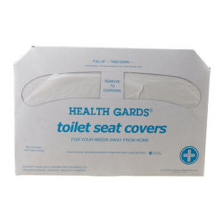 """Winco Paper Toilet Seat Covers, 12"""" x 18"""", Pack Of 250 Covers"""