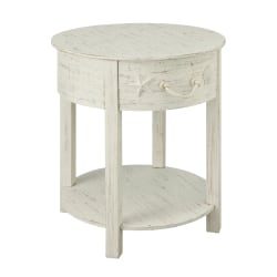 Coast to Coast Sanibel 1-Drawer Accent Table, White Rub