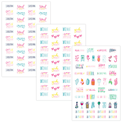 AT-A-GLANCE® Simplified System Phrases Sticker Pack, Set Of 6 Sheets