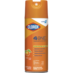CloroxPro™ 4 in One Disinfectant & Sanitizer Aerosol Spray, Citrus, 14 Oz Can