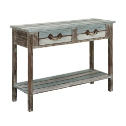 Coast to Coast 2-Drawer Console Table With Shelf, Multicolor