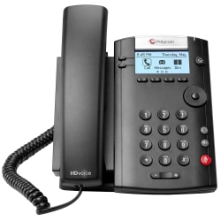 Polycom® VVX 201 VoIP 2-Line Business Media Phone, G2200-40450-025
