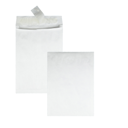 "Quality Park® Tyvek® Expansion Envelopes, 10"" x 13"" x 1 1/2"", 14 Lb, White, Carton Of 100"