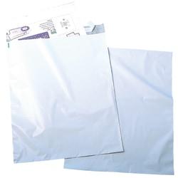 "Quality Park® Redi-Strip™ Jumbo Poly Envelopes, 14"" x 19"", White, Box Of 100"