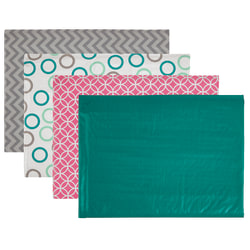"""Office Depot® Brand Poly Fashion Bubble Mailer, #5, 10 1/2"""" x 15"""", Assorted Colors"""