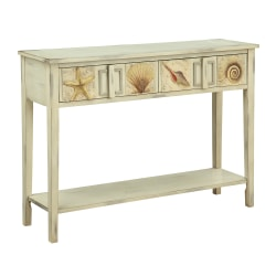 Coast to Coast Surfside 2-Drawer Console Table, Off-White