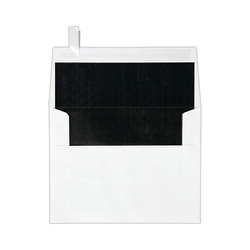 """LUX Invitation Envelopes With Peel & Press Closure, A2, 4 3/8"""" x 5 3/4"""", Black/White, Pack Of 250"""