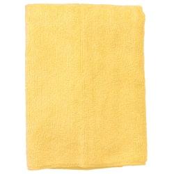 "Wilen Standard Duty Microfiber Cloths, 16"", Yellow, Pack Of 12"