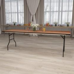 "Flash Furniture Rectangular Wood Folding Banquet Table, 30-1/4""H x 30""W x 96""D, Natural/Black"