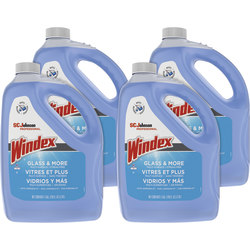 Windex® Glass & Multi-Surface Cleaner, 128 Oz Bottle, Case Of 4