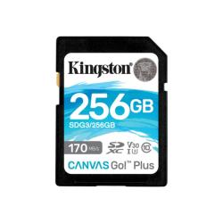 Kingston Canvas Go! Plus 256 GB Class 10/UHS-I (U3) SDXC - 170 MB/s Read - 90 MB/s Write