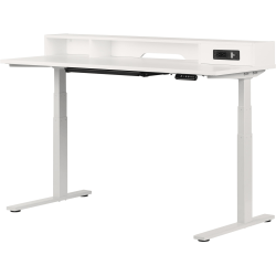 "South Shore Helsy 60""W Adjustable-Height Standing Desk, Pure White"