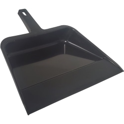 "Continental Industrial Dust Pan, 12 1/4"", Black, Pack Of 12"
