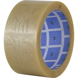 "Sparco Natural Rubber Carton Sealing Tape - 2"" Width x 55 yd Length - Natural Rubber - Durable - 36 / Carton - Clear"