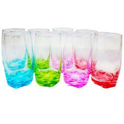 Gibson Home Karissa Glass Tumblers, 13 Oz, Blue/Green/Purple/Red, Pack Of 8 Tumblers