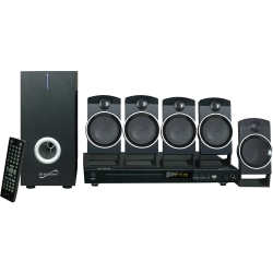 Supersonic SC-37HT 5.1 Home Theater System - 25 W RMS - DVD Player - CD-RW, DVD-R - DVD Video, VCD, SVCD - USB