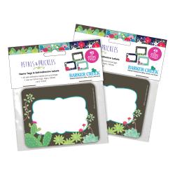 """Barker Creek Self-Adhesive Name Tag Labels, 2-3/4"""" x 3-1/2"""", Petals & Prickles, 45 Labels Per Pack, Set Of 2 Packs"""