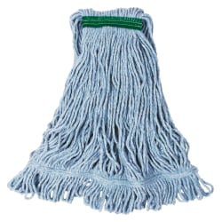 Rubbermaid® Commercial Super Stitch Cotton/Synthetic Wet Mop Heads, Medium, White, Case Of 6