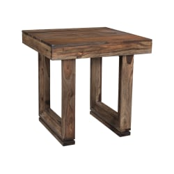 Coast to Coast Brownstone End Table, Brown