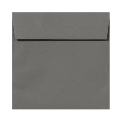 "LUX Square Envelopes With Peel & Press Closure, 6 1/2"" x 6 1/2"", Smoke Gray, Pack Of 250"