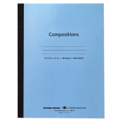 """Roaring Spring Composition Notebook, 8"""" x 10-1/2"""", 48 Sheets, Blue"""