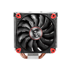 MSI Core Frozr S - Processor cooler - (for: LGA775, LGA1156, AM2, AM2+, LGA1366, AM3, LGA1155, AM3+, LGA2011, FM1, FM2, LGA1150, LGA2011-3, LGA1151, AM4, LGA2066) - aluminum with nickel plated copper base - 120 mm