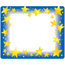 """Trend Star Bright Self-adhesive Name Tags - 3"""" Length x 2.50"""" Width - Rectangular - 36 / Pack - Assorted"""