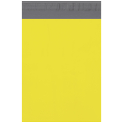 """Office Depot® Brand 10"""" x 13"""" Poly Mailers, Yellow, Case Of 100 Mailers"""
