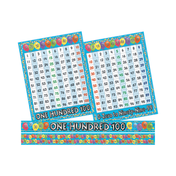 Barker Creek® Counting Skills Bulletin Board Chart And Border Set, Multicolor, Grades Pre-K - 5
