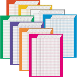 Trend Vertical Incentive Charts Assorted Colors Pack Of 8 Office Depot