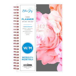 "Blue Sky™ Weekly/Monthly Planner, 5"" x 8"", Joselyn, January to December 2021, 110396"