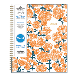"Blue Sky™ Egg Press Weekly/Monthly Planner, 8-1/2"" x 11"", Mom Mums, January To December 2021, 121845"