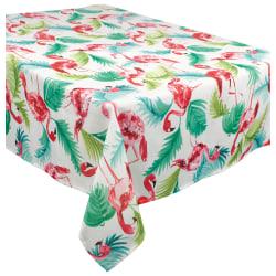 "Amscan Fabric Table Cover, 60"" x 104"", Flamingo"