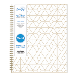 """Blue Sky™ Weekly/Monthly Planner, 8-1/2"""" x 11"""", Latticia, January to December 2021, 122967"""
