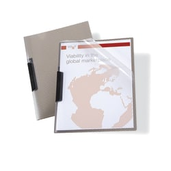 Office Depot® Brand Translucent Front Report Covers With Swing Clip, Clear/Smoke, Pack Of 3