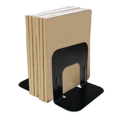 "Brenton Studio™ Nonskid Steel Bookends, 5"", Black, Set Of 2"
