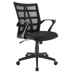 Brenton Studio® Jaxby Mesh/Fabric Mid-Back Task Chair, Black