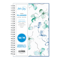 "Blue Sky™ Weekly/Monthly Planner, 5"" x 8"", Lindley, January To December 2021, 101579"