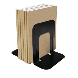 "Brenton Studio™ Nonskid Steel Bookends, 7"", Black, Set Of 2"