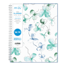 "Blue Sky™ Weekly/Monthly Planner, 8-1/2"" x 11"", Lindley, January To December 2021, 100654"