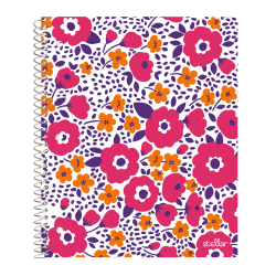 """Office Depot® Brand Stellar Poly Notebook, 8"""" x 10-1/2"""", 1 Subject, Wide Ruled, 160 Pages (80 Sheets), Daisy"""