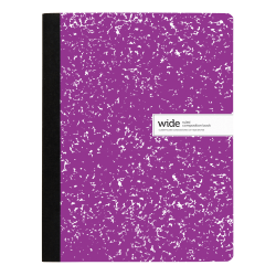 "Office Depot® Brand Composition Notebook, 9-3/4"" x 7-1/2"", Wide Ruled, 200 Pages (100 Sheets), Purple"