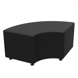 Marco Sonik® Soft Seating Curved Bench, Ebony
