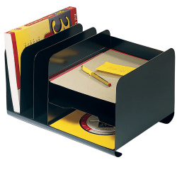 Office Depot® Brand Letter-Size Vertical/Horizontal Combination Organizer, Black