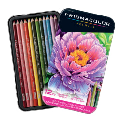 Prismacolor Premier Colored Pencil Set, 0.7 mm, Soft Core, Botanical Garden, Set Of 12 Pencils