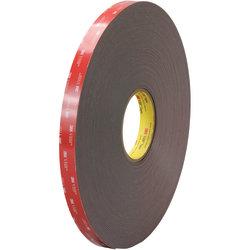 """3M™ VHB™ 4947F Tape, 1.5"""" Core, 0.75"""" x 5 Yd., Black"""