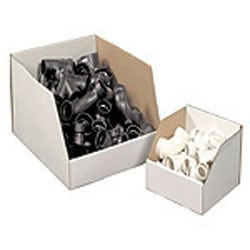 "Office Depot® Brand White Jumbo Open Top Parts Bin Boxes, 10"" x 12"" x 18"", Pack Of 25"
