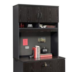 Sauder® Via Lateral File Hutch, Bourbon Oak/Soft Black