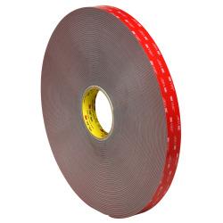 "3M™ VHB™ 4991 Tape, 1.5"" Core, 1"" x 5 Yd., Gray"