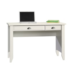 Sauder® Shoal Creek Computer Desk with Flip Down Computer Tray, Soft White